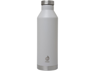 "Trinkflasche Thermosflasche Edelstahl V8 ""Light Gray"""