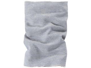 Kinder Schlauchschal Wolle Seide marine-geringelt