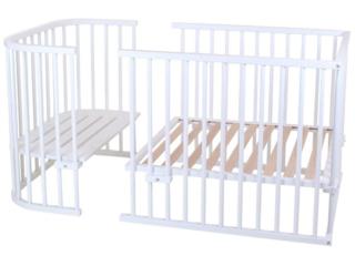Babybay Original Umbausatz Kinderbett, Buche massiv, weiß lackiert