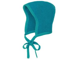 Baby Strickmütze melange-lagoon-blau