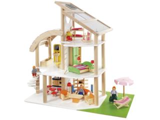 "Puppenhaus ""Strandvilla"" aus Holz, bunt lackiert, 35-teilig"