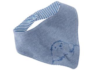 """Baby Dreieckstuch """"Maulwurf"""" blau-melange"""
