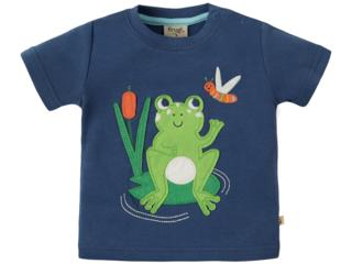Baby und Kinder T-Shirt Frosch marine