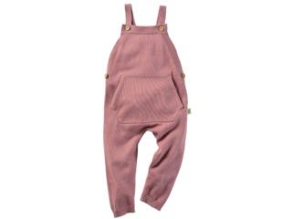 Baby und Kinder Latzhose Strick-Qualität Bio-Baumwolle rose