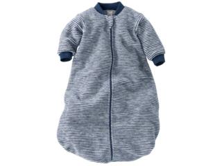 Schlafsack Baby, Schurwolle (kbT), marine-geringelt