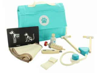 Kinder Tierarzt Tasche mit Zubehör aus Kautschukholz