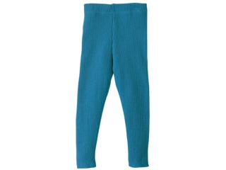 Woll-Leggings blue