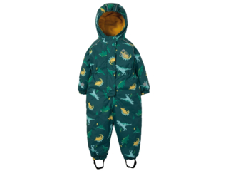 Kinder Regenanzug Overall mit Kapuze, gefüttert Dino