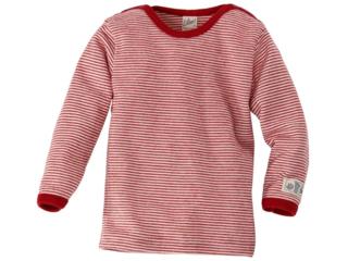 Langarm-Schlupfhemd rot-geringelt