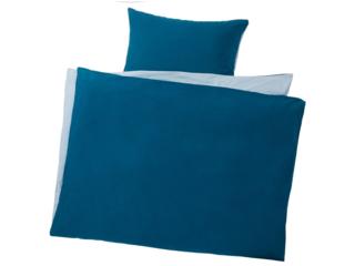 Biber Bettwäsche zum Wenden Bio-Baumwolle blau