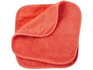 Waschlappen Bio-Baumwolle 2er Set koralle