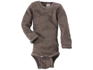 Baby Body Langarm walnuss