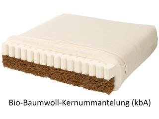 Bio-Kindermatratze Kokos-Naturlatex Bio-Baumwolle - die Wendematratze