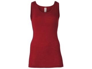 Damen Unterhemd 70% Schurwolle (kbT), 30% Seide malve