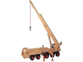 Großer lenkbarer Mobilkran aus Buchenholz
