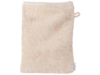 Waschhandschuh Bio-Baumwolle Frottee, natur