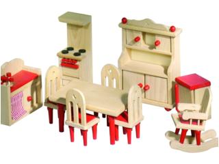 Puppenhausmöbel Küche aus Holz