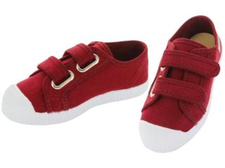 Kinder Schuhe Sneaker mit Klettverschluss bordeaux