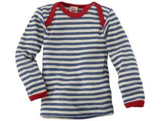 Baby Schlupfhemd Langarm blau-geringelt
