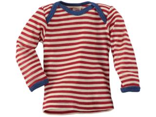 Baby Schlupfhemd Langarm rot-geringelt