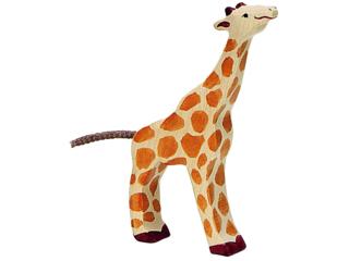 """Holzfigur """"Giraffe klein, fressend"""" Abenteuer Wildnis"""