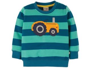 Baby und Kinder Langarmshirt Traktor