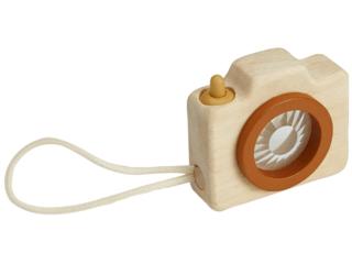 Mini Kinder Kamera aus Kautschukholz mit Prismalinse