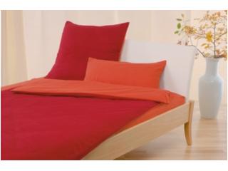 Biber-Wendebettwäsche rot-orange