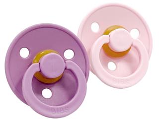 Schnuller Naturkautschuk 2er Pack kirschförmig lavendel-pink