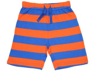 Baby und Kinder Shorts blau-orange-gestreift