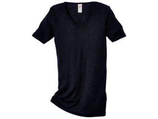 Damen-Unterhemd Kurzarm schwarz