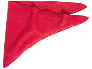 Baby und Kinder Dreieckstuch Wolle Seide rot