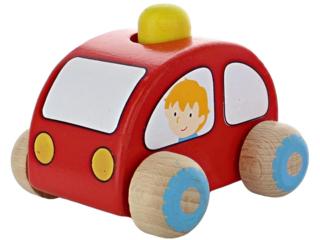 Spielzeugauto mit Hupe aus Birkenholz