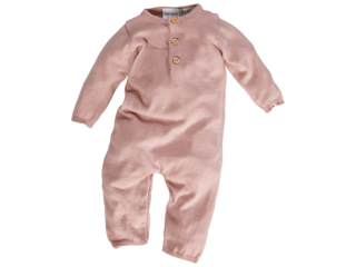 Baby Overall Bio-Baumwolle Strick rose