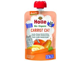 """Pouchy """"Carrot Cat"""" Bio-Früchtepüree"""