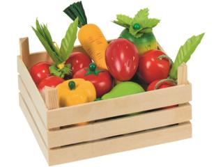 Kaufladen Obst und Gemüse aus Holz 10-teilig