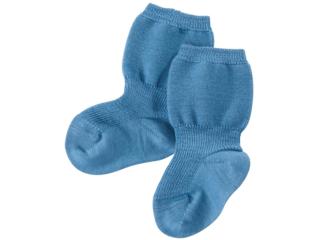 Feine Babysocken bergblau