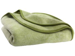 Babydecke Wolle-Baumwolle Fleece lindgrün