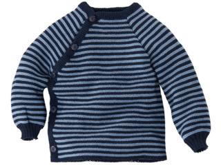Babyjacke Schlüttli Schurwolle (kbT) marine-hellblau