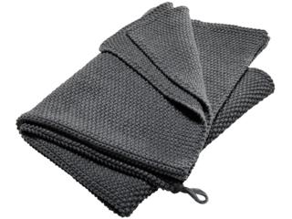 Handtuch Bio-Baumwolle Perl-Strick-Qualität dark grey-melange