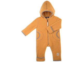 Baby und Kinder Overall mit Kapuze Bio-Merino-Wollfleece (kbT) bernst.