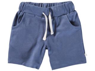 Kinder Shorts Bio-Baumwolle blau-off white dunkel blau
