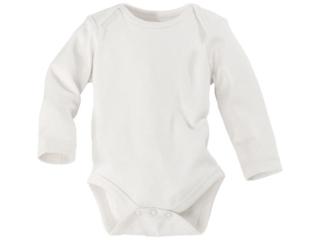Baby Langarmbody Bio-Baumwolle off white