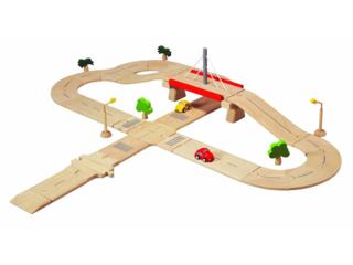Straßensystem Deluxe, Spielzeug Straße aus Kautschukholz