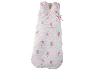 Schlafsack Baby Cross-Over Bio-Baumwolle ohne Arm Ballon rosa