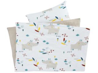 Kinderbettwäsche Bio-Baumwolle Jersey Nala Nashorn