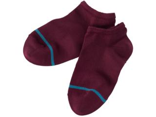 Kinder Socken Füßlinge pflaume