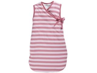 Schlafsack Baby Cross-Over Bio-Baumwolle ohne Arm Streifen rosa