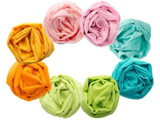 Spieltücher Bio-Baumwolle 8er-Set pastell