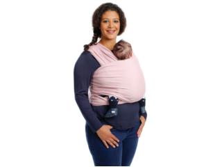 Tragetuch für Babys und Kleinkinder Bio-Baumwolle soft pink